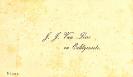 visitekaartje J.J. van Liere 1837-1897